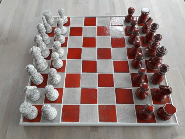 Keramiek schaakspel